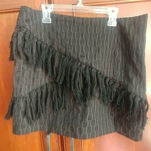 Fun fringe mini skirt